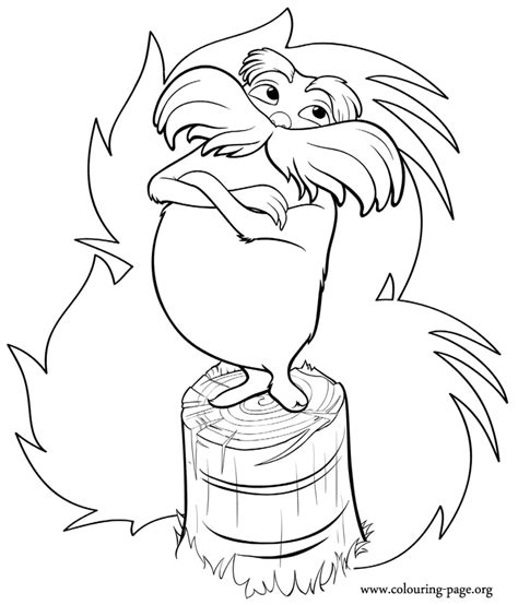truffula tree coloring page az coloring pages
