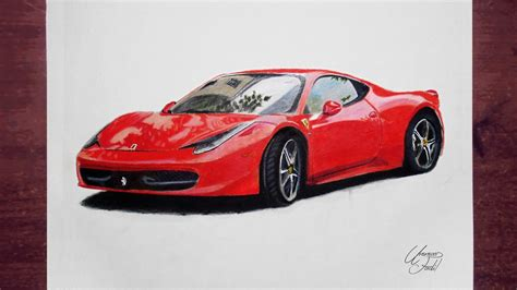 Best Car Wallpapers In Colored by Pencil Sketches Wallpaper All New Model Cars