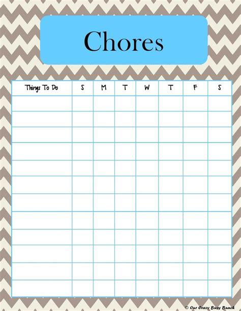 printable toddler chore list printable kid s chore charts print at work pinterest