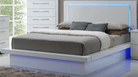 Sapphire High Gloss White Laminate Platform Bedroom Set Laminate Bedroom Furniture