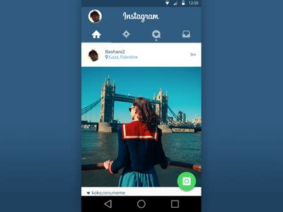 instagram layout help instagram material design psd by bashar louzon dribbble
