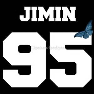 Writing Wall Stickers quot bts jimin 95 line butterfly jersey quot stickers by