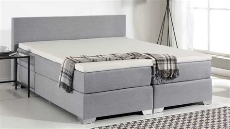 king size bed box spring beliani box spring bed upholstered bed super king size president light grey eng youtube