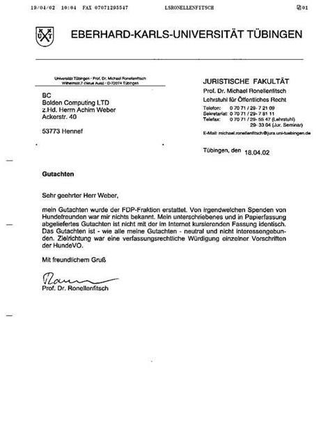 Rechnung Als Kleinunternehmer Stellen Dr Stefan Gr 252 Ll Und Die Finanzierung Des Ronellenfitschgutachtens
