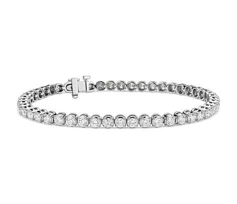 diamond tennis bracelet in 18k white gold 2 blue nile diamond tennis bracelet in 18k white gold 5 ct tw