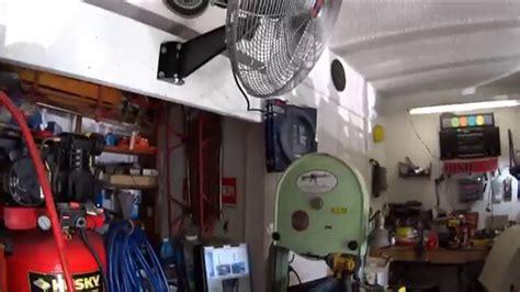 wall mount shop fan 20 quot oscillating wall mount fan install 10236 from