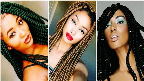 womens hairstyle the box style 25 cool big box braids hairstyles for black women youtube