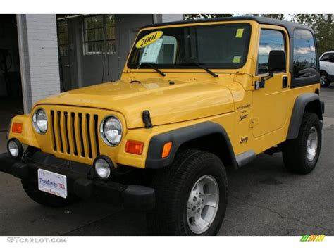 2001 solar yellow jeep wrangler sport 4x4 36407092 gtcarlot car color galleries