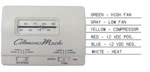 rvp 7330g3351 coleman mach white manual wall thermostat ebay