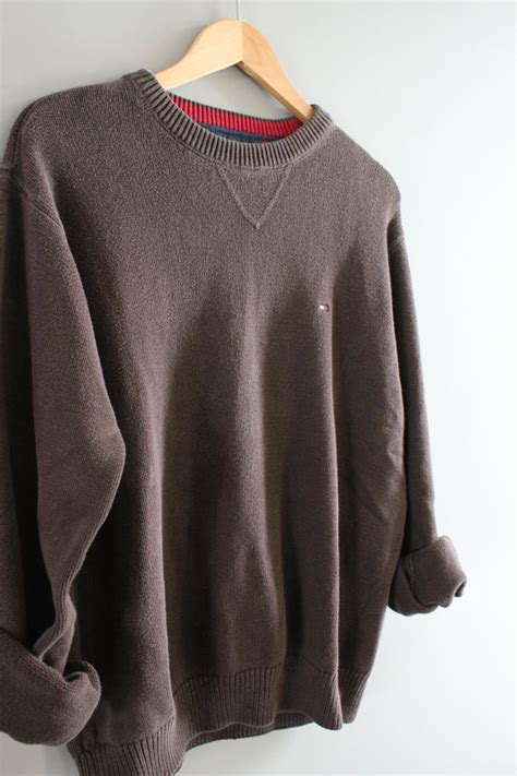 Sweater Unisex Polos Pink Hilfiger Sweater Brown Cotton Sweater Brown Pullover