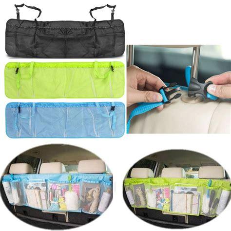 Seat Protector Organizer 2 In 1 Kick Mat Organizer T1310 car back seat organizer storage bag kick mat protector tissue box travel holder pouch hanger