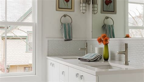 bathroom backsplashes 30 penny tile designs that look like a million bucks
