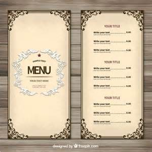 25 free restaurant menu templates 25 best ideas about free menu templates on