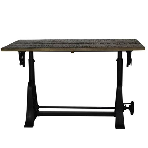 Adjustable Height Drafting Table Industrial Style Drafting Table With Adjustable Height And Tilt At 1stdibs