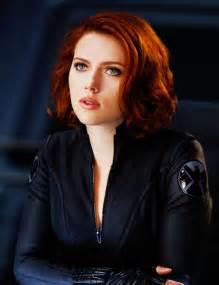 black widow hair color johansson as black widow superheroes