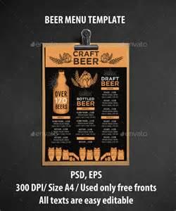 20 beer menu templates free sle exle format