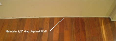 gap between and wall tips for laying hardwood throughout a floor one project