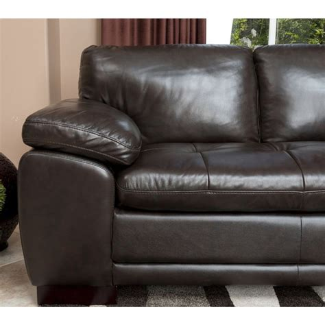 dark brown leather sectional sofa abbyson living ci n680 brn tivoli premium italian leather