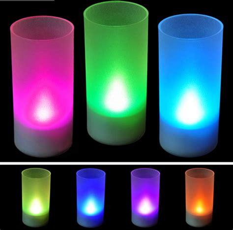 6x New Flameless Flickering Led Tea Light Candles 6x Led 7 Color Change Flicker Flameless Battery Candles Tea Light Ebay