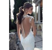 Open Back White Wedding Dress With Floral Laces 2049962  Weddbook
