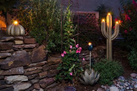 Backyard Torches by Decorative Desert Tiki Torches Tropical Landscape Denver By All Backyard