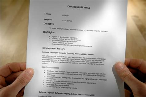 Examples Of Hvac Resumes by Creare Un Curriculum Efficace