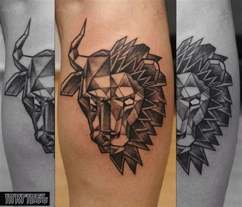 geometric tattoo taurus inkfidel tattoo on twitter quot custom designed geometric