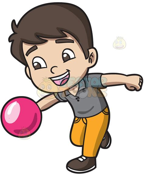 bowling clipart an energetic boy enjoying the of bowling clipart