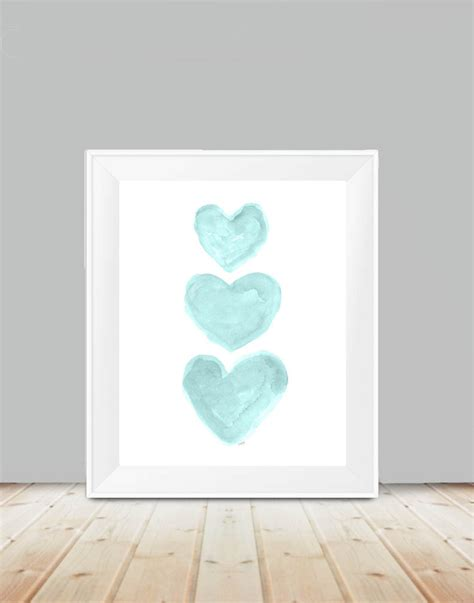 Turquoise Girls Decor 11x14 Aqua Wall Decor Aqua Nursery Aqua Nursery Decor