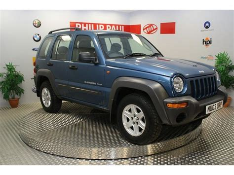 used jeep cherokee for sale used jeep cherokee 2003 diesel 2 5 crd sport 5dr 4x4 blue