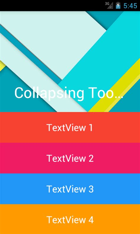 android layout under toolbar create collapsing expanding toolbar with imageview image