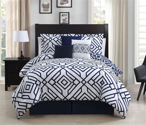 best 28 navy and white comforter sets king king size