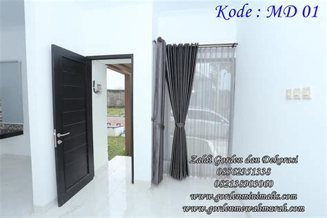 Ranjang Minimais Daun Jatuh gorden blackout terbaru dari jauh polos dari dekat motif daun kode md 01 model gorden rumah