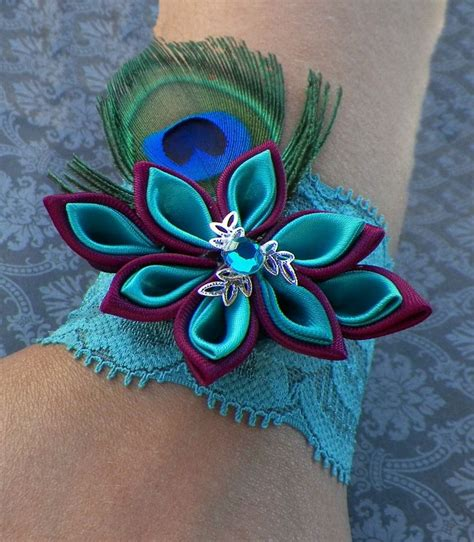 baby elastic lace flower peacock feather 11 best images about corsage ideas on brooches