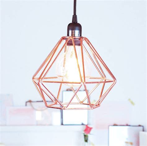 Copper Ceiling Light Nordic Geometric Copper Ceiling Pendant Light By Made With Designs Ltd Notonthehighstreet