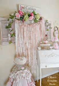 shabby chic garland hello my sweet and beautiful friends