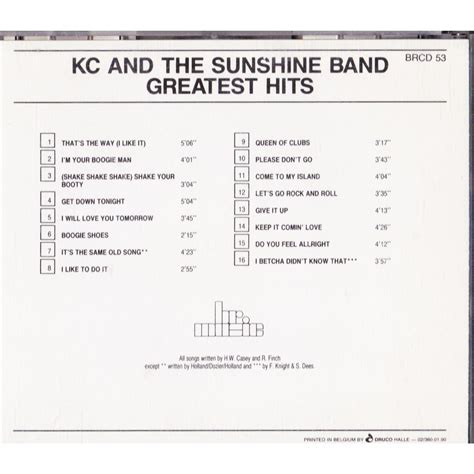 Cd Kc And The Band The Best Of greatest hits by kc and the band cd with