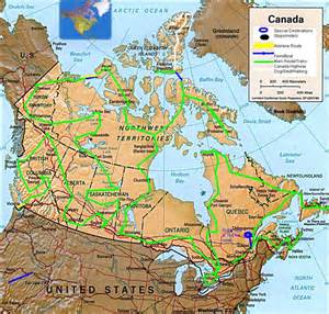 map my route canada the great canadian road trip map