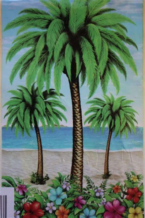 palm tree wall murals palm tree mural wall door luau tiki bar pool tropical decor ebay
