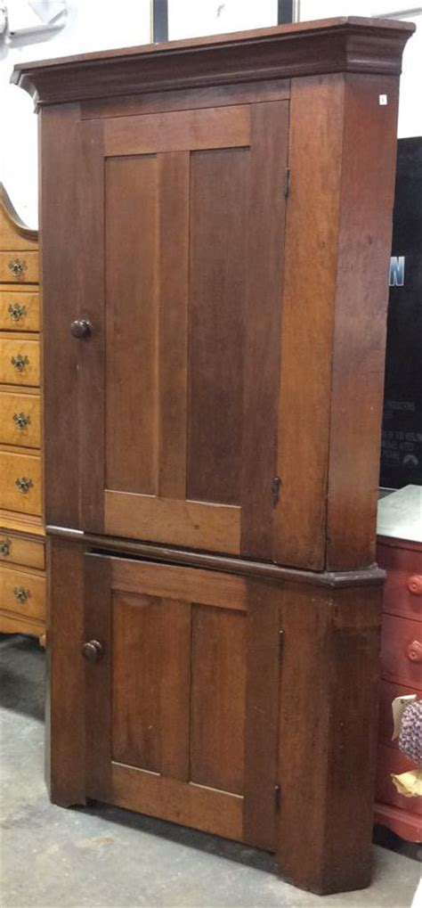 cherry wood corner cabinet antique 1830 cherry wood corner cabinet