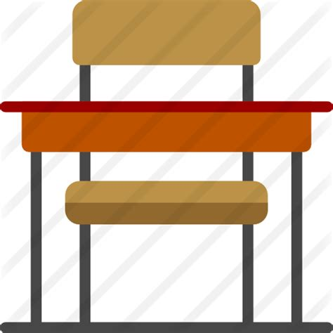 Desk chair free education icons