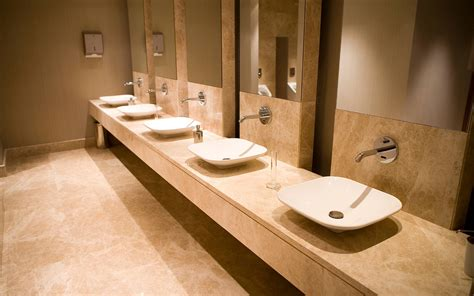 public bathroom mirror natural look is popular trend in bathroom makeovers