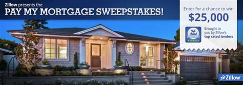 Mortgage Sweepstakes - last chance enter to win 25 000 to pay your mortgage zillow groupzillow group