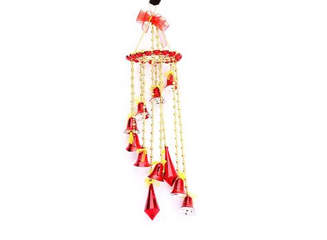 beautiful christmas tree ornaments bell hanger red w01261