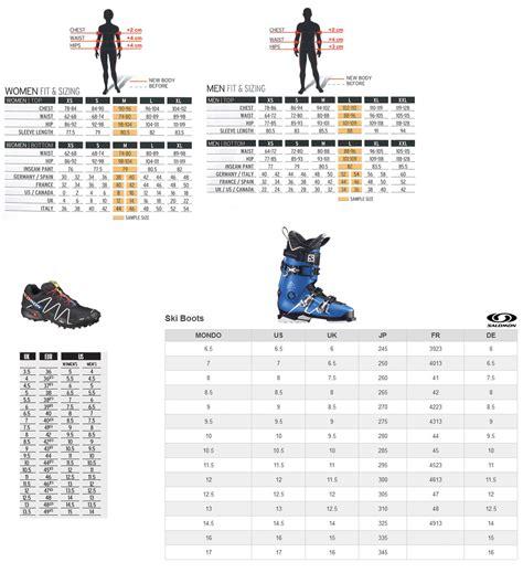 running shoe chart salomon trail running shoes sizing chart siemma