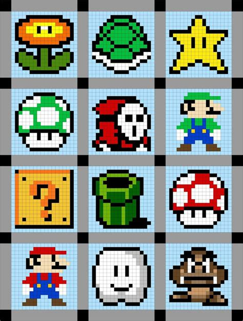 pixelated mario characters pixelated mario characters 33 best 8 bit pixely stuff