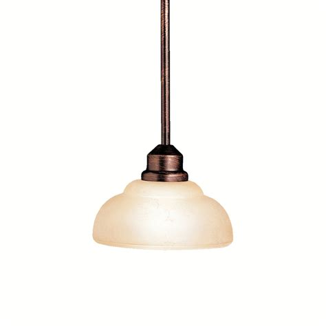 Portfolio Pendant Light Shop Portfolio Columbiana 7 5 In W Olde Auburn Mini Pendant Light With Tinted Glass Shade At
