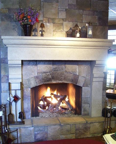 Prefab Gas Fireplace by A European Mantel By Francois Co Around A