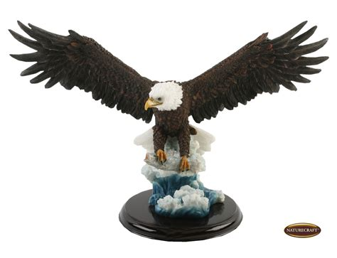 large 40cm realistic flying eagle w fish ornament figurine gift display statue ebay
