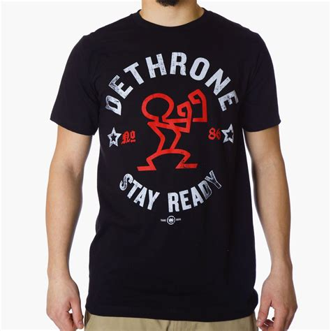 T Shirt Ready Fight dethrone conor mcgregor stay ready t shirt black mma